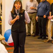 Tanja Bishop, BCRA administrator and creative impulse behind this party