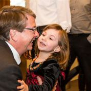 Rory with our granddaughter Edie at the party