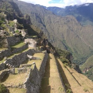 One of the slooes of Machu Picchu. Can you imagine building this?!